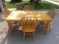 Kitchen table set with four chairs, save $200+
