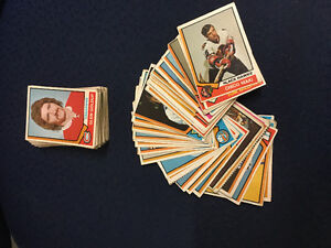 1974-75 OPC hockey cards - 102 cards of various conditions