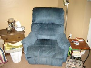 Blue Recliner Family Room Chair