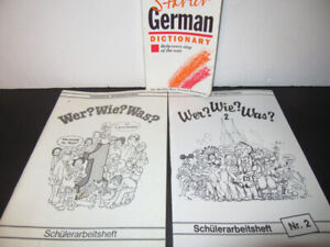 3 GERMAN LEARNING BOOKS