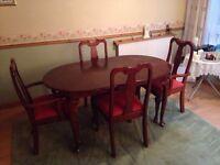 Mahogany Table & chairs.