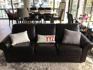 REAL Leather Pull-Out Couch for Sale!!!