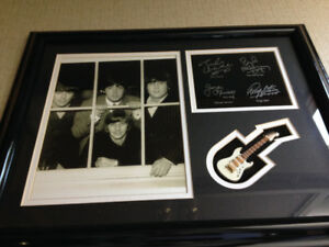 PRINT - COLLECTIBLE - BEATLES PHOTOGRAPH SHOWCASE