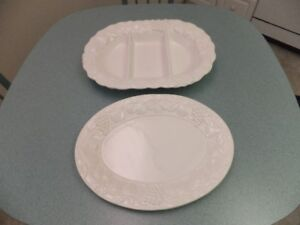FOR SALE 2 Handmade Porcelain Serving Trays size 12x16 - $20.00.