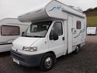 Swift Sundance 520 Lux 4 Berth Turbo Diesel Motorhome Reversing Camera Bike Rack