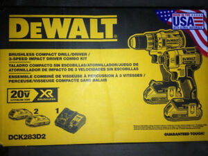 Ensemble Dewalt brushless 20v XR neuf