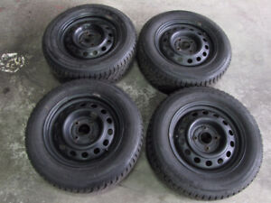 USED SET WINTER TIRES AND RIMS 195 65 R15 nissan sentra
