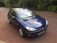 PEUGEOT 206 S 2005 1.4 FULLY LOADED LONG MOT VERY CLEAN DRIVES LOVELY BLUE