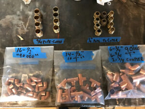 Copper pipe fittings (Lot) REDUCED, REDUCED, REDUCED