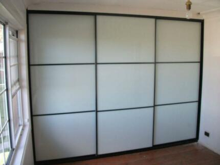 Complete Built-In Wardrobe up to 3600mm Black Panel doors install