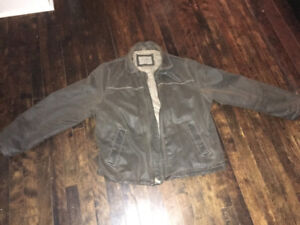 Columbia lined leather Jacket