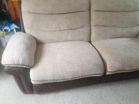 3 seater manual recliner & chair manual recliner