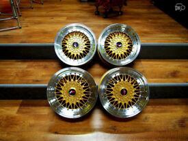 "Racing style brand new Alloy wheels 17"" inch 4x100 BMW e30 e21 M30 E30 318i 325i alloys wheel BBS RS"