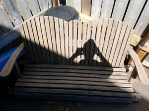 Wooden seat for swing chair