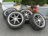 "FOUR 18"" X 71/2"" MSD  MAG WHEELS"