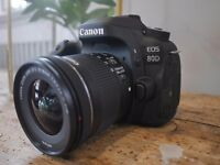 Canon 80D body with two lens plus 2 extra batteries, 16gb class 10 memory and a tripod
