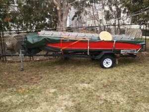 14ft aluminum Boat and Trailer