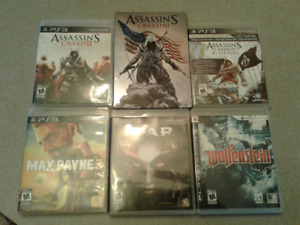 PS3 GAMES assassin creed, max payne etc.