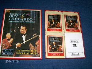 THE BEST OF GUY LOMBARDO-SET OF 3 EIGHT TRACK STEREO-VINTAGE!