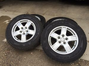 Jeep aluminum alloy rims with tires