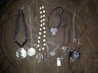 Lots of different necklaces, bracelets and rings offers