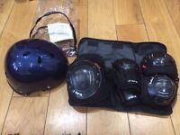 Skate helmet - size 55cm-56cm & knee elbow & wrist pads