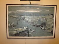 ''Novia Scotia'' Large Oil Painting by Listed Artist Dovan 1967