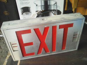 aluminum EXIT sign