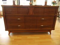 VICTORIAVILLE MCM TALLBOY AND 8 DRAWER  DRESSERS