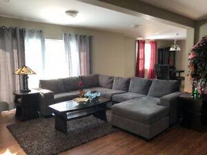 Fully Furnished One Level Flat 2 bed plus den
