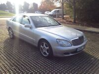 MERCEDES S320 CDI AUTO 2005 4 FULL LEATHER. SAT NAV FULLY LOADED MOT VERY CLEAN INSIDE AND OUT