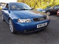 AUDI A3 1.8 TURBO QUATTRO++MOT MARCH 18++OVER 2000 EXPEDITURE ON WEAR AND TEAR I