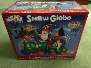 Gemmy Train with Snow Globe Air Blow