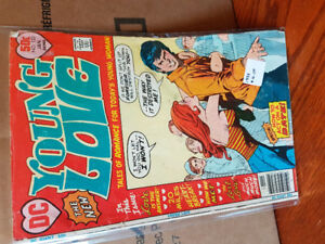 Vintage 1960s and older romance comics