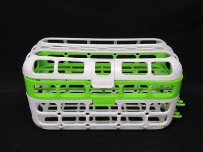 Munchkin Dishwasher Basket Green White for Bottles Nipple Pacifier Lids Utencils