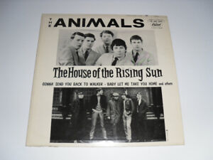 vinyl record The Animals House of the Rising Sun album Capitol