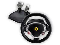 PC steering wheel and pedals