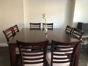 9 piece dining set with Lazy Suzy $250 or best offer