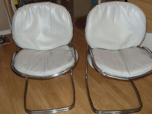 Pair of grey leather chairs, and nice comfy chair