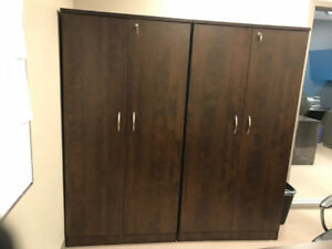 Large wood cabinets for sale