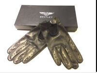 Bentley Mens Leather Driving Gloves. New In Gift Box. Great Christmas present!