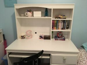 For sale twin bed, bookcase and desk.
