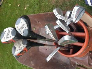 Golf clubs with bag (left handed/ gaucher)