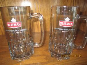 Man cave utensils, 2 Large Sleeman Beer Mugs