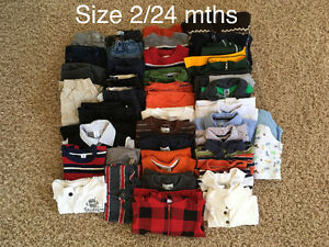 Boys Clothes sizes 2-5 Yrs