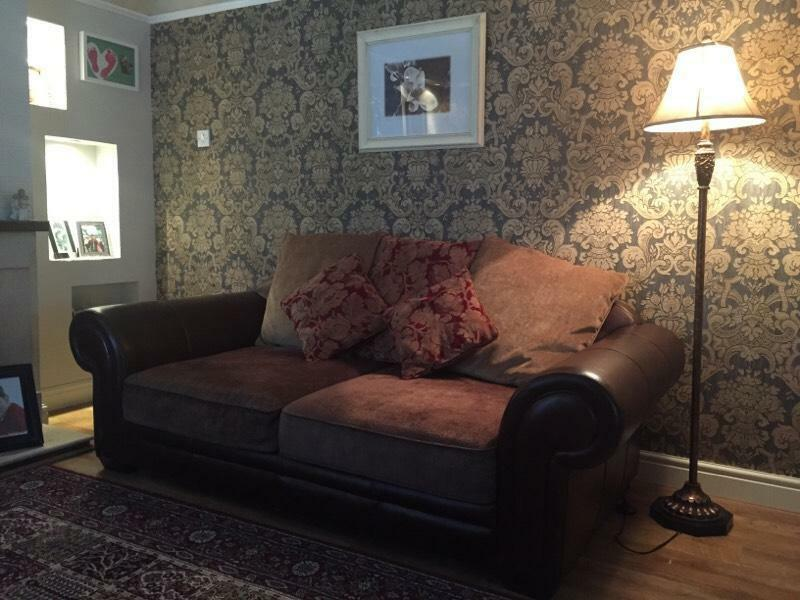 Leather sofa and 2 chairs in newtownards county down for Home decor newtownards
