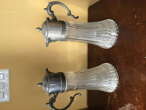 Antique Crystal and Silver Decanters