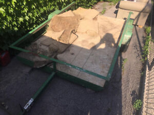 SOLID 4X8 UTILITY TRAILER *NEW TIRES* STEEL FRAME