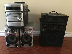 Karaoke machine and stereo system