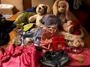 Build-A-Bear - Two Animals and assorted clothing